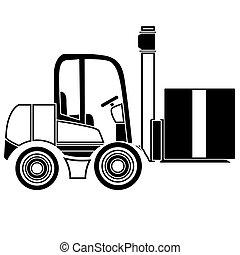 Forklift delivery truck