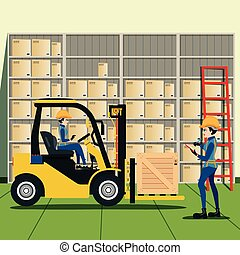 warehouse - Forklift Driver List of products in warehouse.