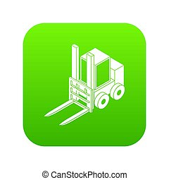 Forklift icon green