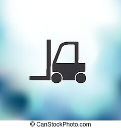 forklift icon on blurred background