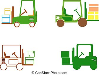 Forklift - icons - Forklift icons for website.
