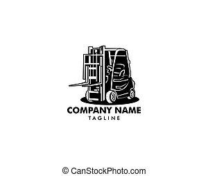 Forklift logo vector, forklift icon