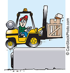 forklift off dock - forklift operator not paying attention...
