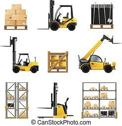 Forklift Realistic Set