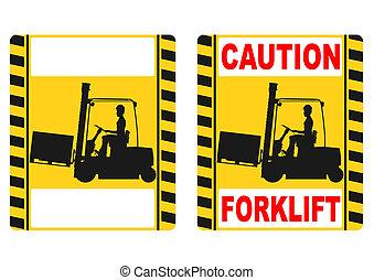 Forklift sign