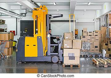 Forklift stacker