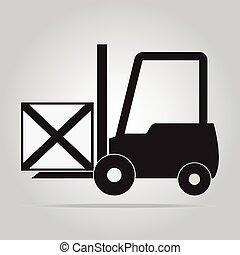 Forklift symbol vector illustration