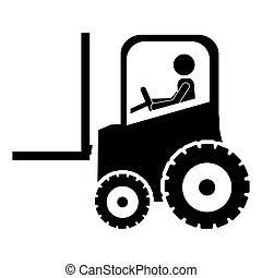 forklift tractor icon image