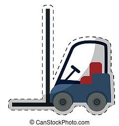 forklift truck icon - forklift truck vehicle over white...