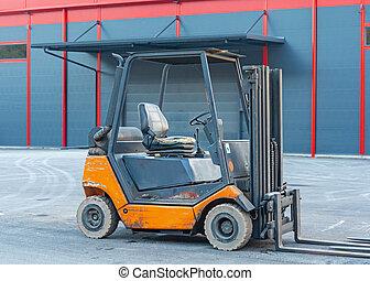 Forklift Truck Outside