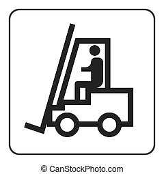 Forklift truck sign