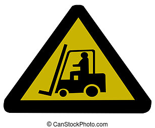 Forklift truck sign illustration