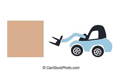 Forklift truck - Vector illustration forklift truck