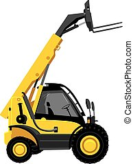 Forklift truck. Vector illustration