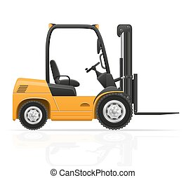 forklift truck vector illustration