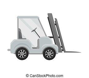 Forklift truck. Vector illustration on a white background.