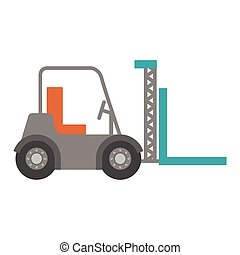forklift truck with forks icon