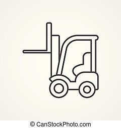 forklift vector icon sign symbol