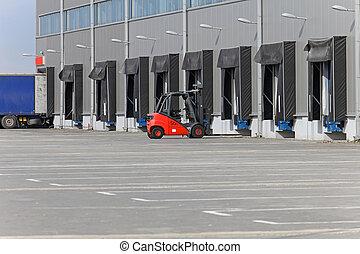 Forklift warehouse