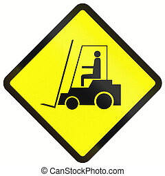 Forklift Warning Sign In Indonesia