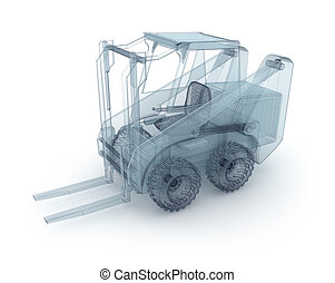 Forklift wire model isolated