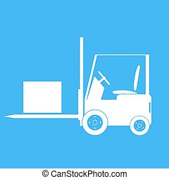 Forklift with a load. Vector