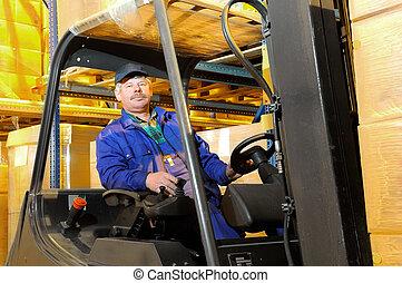 forklift worker at warehouse