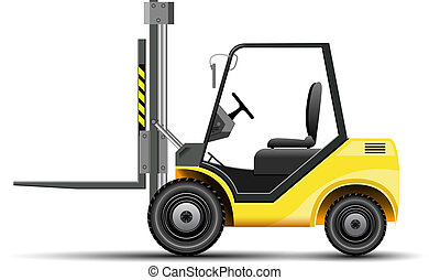 Forklift - Yellow vectro forklift icon