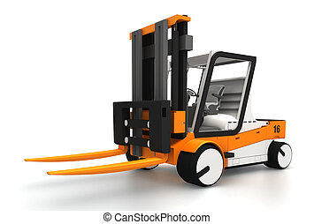 forklifter 3d model - fork lifter for cargo 3d model on...