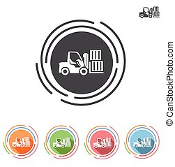 Forklifts icon in a flat style