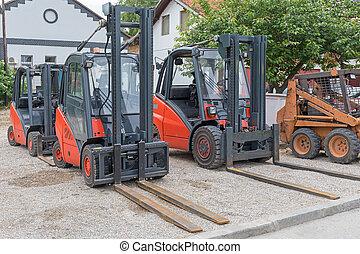 Forklifts Outside