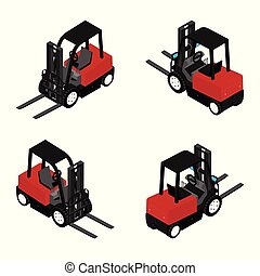 Forklifts, reliable heavy loader, truck. Heavy duty ...