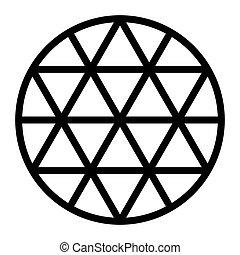formé, lignes, grille, hexagram, milieu noir