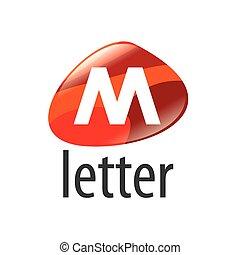 form, abstrakt, m, vektor, brief, logo