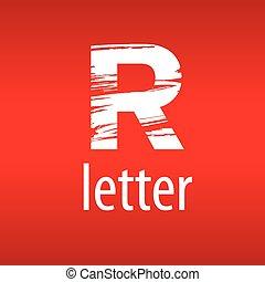 form, abstrakt, vektor, brief, druck, logo, r