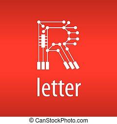 form, abstrakt, vektor, brief, logo, r, span