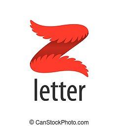 form, abstrakt, vektor, brief, logo, z, flügeln