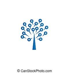 form, baum, brett, stromkreis