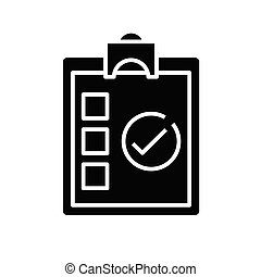 Form black icon, concept illustration, vector flat symbol, glyph sign.