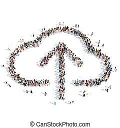 form, clouds., leute