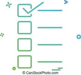 Form icon design vector
