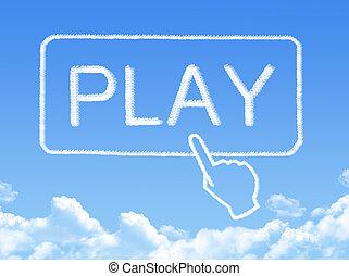 form, nachricht, spielen, wolke