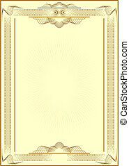 Form of certificate. - Patterned form of certificate.Light...