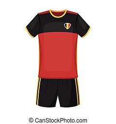 Form of the Belgian football team.The dark Belgian wolf. Belgium single icon in cartoon style vector symbol stock illustration.