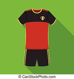 Form of the Belgian football team.The dark Belgian wolf. Belgium single icon in flat style vector symbol stock illustration.