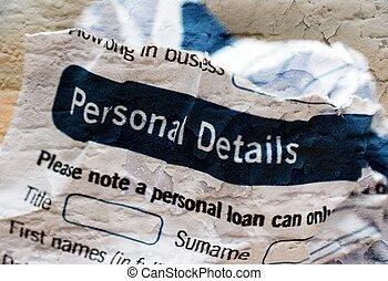 Form- personal details