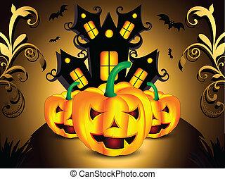 form, vektor, halloweenkuerbis