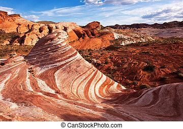 formação sandstone, coloridos, pedra vermelha