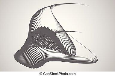 forma abstracta, transformación, plano de fondo, vector