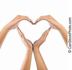 forma, amor, mãos
